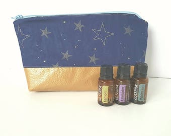 Essential Oil Pouch, Oily Pouch, Essential Oil Storage - Stars