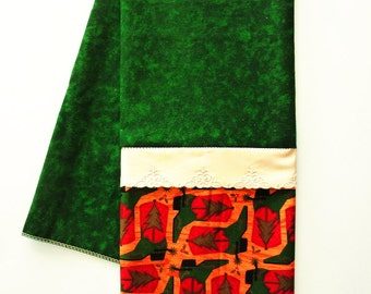 Holiday hand towel etsy for Southwestern towel bars