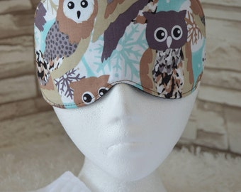 Winter Owls Eye Mask for Sleep, Travel, etc. ~ READY TO SHIP for Teachers, Friends, Birthdays, All Occasion Gifts