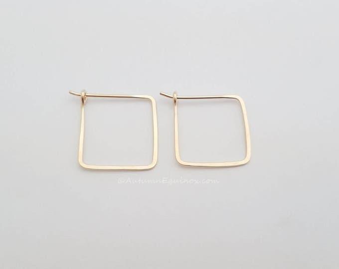 Square Hoop Earrings 14k Gold Filled