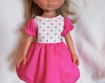 Corolle Les Cheries Doll Clothes,Rosebuds Dress Set,fits 13inch,14inch dolls