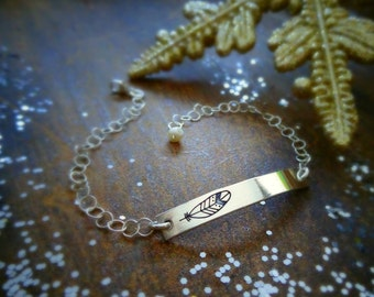 Birds of a Feather bar bracelet, sterling silver bar, adjustable, sisters, best friends, friendship, free spirit, otis b, briguysgirls