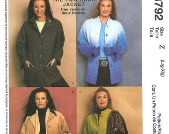 Jacket Sewing Pattern by Palmer Pletsch - Sizes: L (16/18) - XL (20/22)  Classic Fit  - McCall's 3792 Sewing Pattern - OOP UNCUT