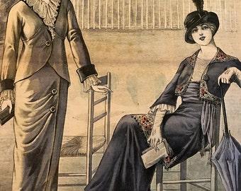 Vintage French Fashion Magazine Le Petit Echo de la Mode April 27, 1913