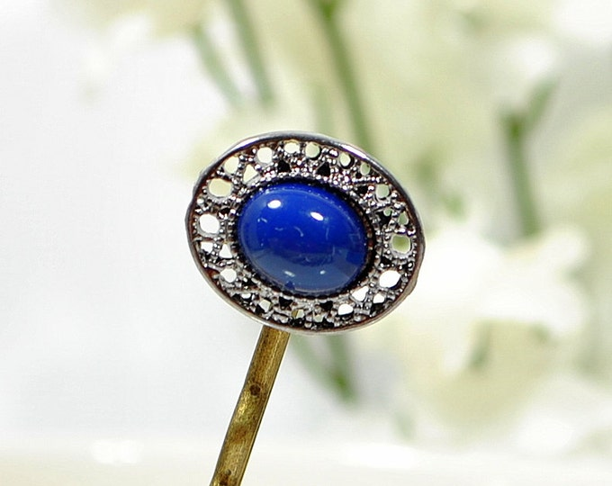 Hair Pin Blue Beaded Hairpin Small Hair Pins