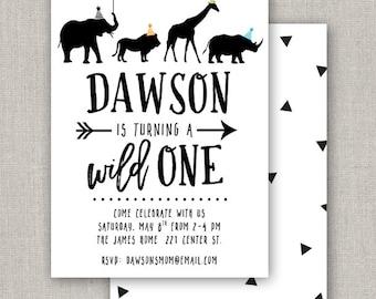 Wild One Birthday Party Invitation