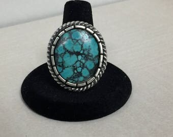 Turquoise jewelry, Turquoise ring, size 9, Southwestern jewelry, Southwest turquoise, Turquoise, Sterling silver ring, Sundance style,