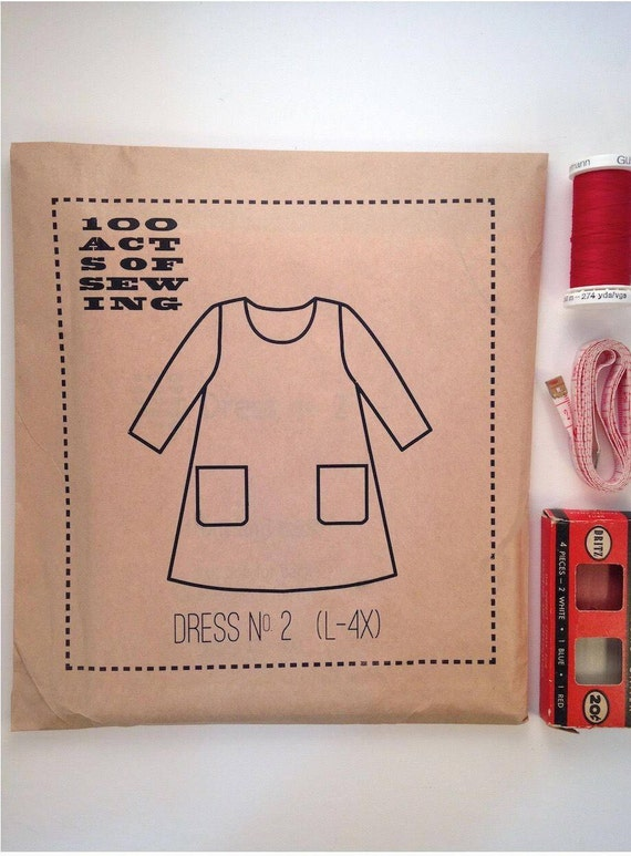 100 Acts of Sewing: Dress No. 2 - Sewing Pattern  (sizes L-4XL)