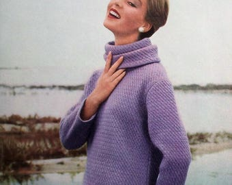 Vogue Knitting Book No 51 Autumn 1957 Vintage 1950s Knitting Patterns Women's Sweaters Jumpers Jackets Cardigans 50s original patterns