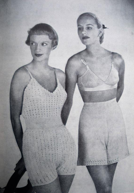 Knitted Garments for the Family - vintage book 1940s 1950s original knitting patterns women men children babies 40s 50s lingerie etc