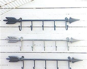 Metal Arrow Wall Decor, Wall Hooks, Black Wall Hook, Vintage Style Coat Hook, Vintage Wall Hooks,  Wall Hooks