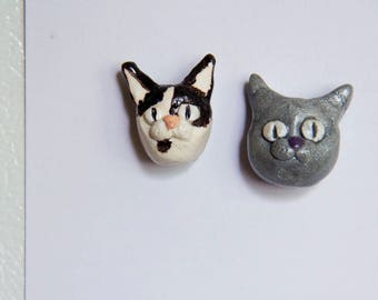 Personalized pet cat magnet, custom made from your photos