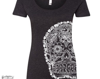 Womens Day of the DEAD 2 TriBlend Scoop Neck Tee - T Shirt S M L XL XXL (+ Colors)