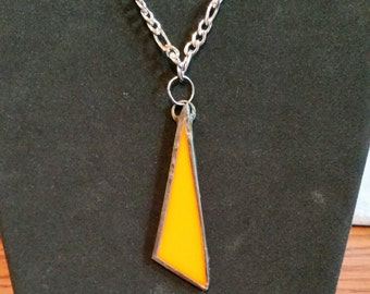 Stained Glass Necklace - Orange
