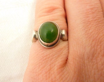 Vintage Sterling Silver Amazonite Ring Size 4 1/4