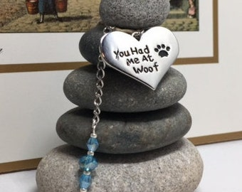 You had me at Woof Rock Cairn, Dog Lover, Desk Gift, Pet Adoption, Pet, Puppy