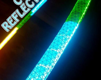 """Custom 'NiteBrite' REFLECTIVE Hoop  //  3/4"""" Polypro, 5/8"""" Polypro, OR 1/2"""" Advanced PE. Any Colors, Any Grip."""