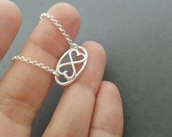 Infinity Bracelet love heart chain bracelet sterling silver gift for women