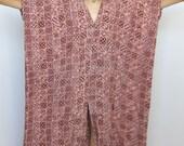 empress muumuu -- vintage 70's dramatic batik mumu caftan dress OSFA