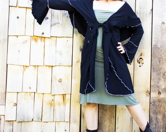 Renaissance Wrap - Organic Fabric - Made to Order - Many Colors Available - Eco Fashion - Boho Chic - Women's Clothing