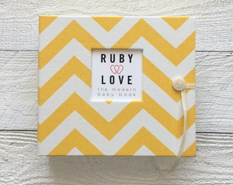 Yellow Chevron | BABY BOOK