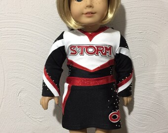 "Made to order Desert Storm Cheerleader Uniform to fit American Girl Doll or any 18"" doll"