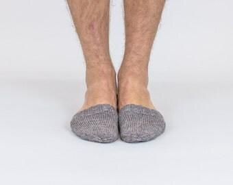 Hand knitted wool TOE-STIES by Ramune Toleikyte  in Pebble