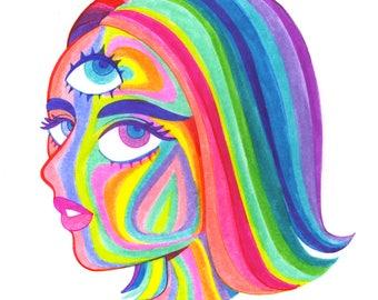Rainbow Lady D