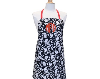 Womens Apron Custom Apron Monogrammed Apron Adjustable Apron Cute Apron Set Pinafore Apron Cooking Apron Personalized Apron Full Apron