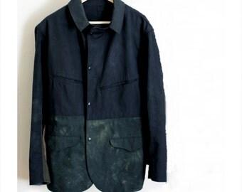 Artist Workwear Jacket Custom Handmade Indigo