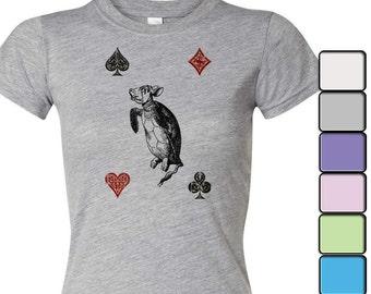 Alice in Wonderland T-shirt, Alice in Wonderland Shirt - Women's Shirt Tee, Alice in Wonderland by Lewis Carroll Shirt, Mock Turtle
