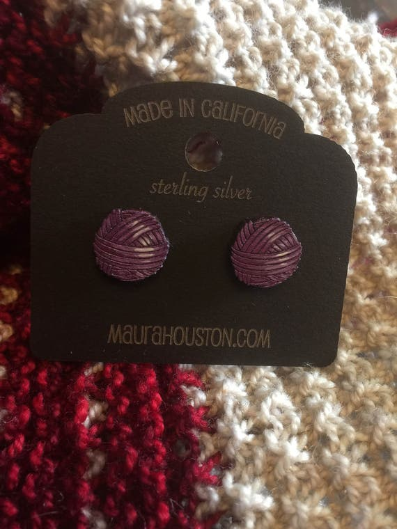 Ball of Yarn Stud Earrings
