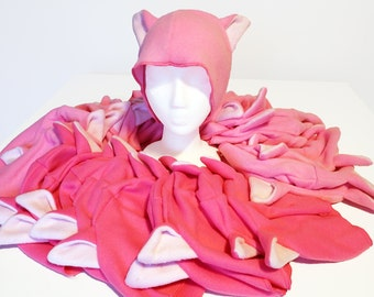 Pussyhat. All profits donated to Planned Parenthood. Sliding Scale Price. Fleece, Pink.