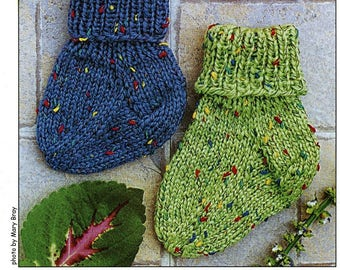 Little Speckled Toes Cabin Fever Knitting Pattern #153 Socks NB-2yr - Easy Knit!