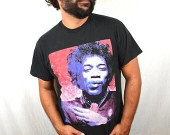 Vintage 90s Jimi Hendrix Tshirt Tee Shirt