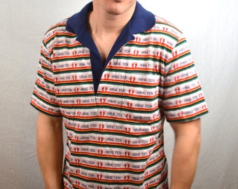 RARE Vintage 70s Hang Ten Striped Tee Shirt Tshirt