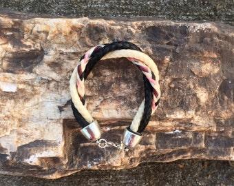 6.5 Inch Twisted Three Strand Horse Hair Braided Horsehair Bracelet