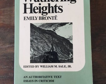 Vintage Paperback Classic, Wuthering Heights by Emily Bronte, Norton Critical Edition, 1972, English Literature, Book Decor, free shipping