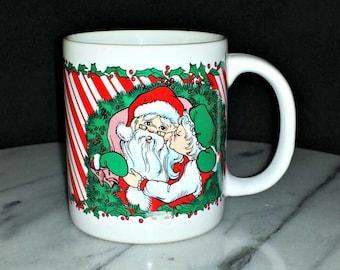 Santa & Mrs. Claus Mug / 1988 Santa and Mrs. Claus Mug / Santa Claus and Mrs. Claus Mug