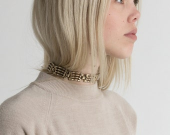 Vintage 80s Silver Chain Link Choker