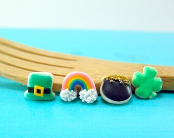 Dollhouse Miniature Sweets // Miniature Cookies for St. Patrick's Day // 1:12 Scale Food