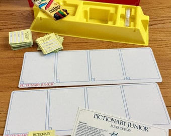 Vintage 1980s Childrens Game / Pictionary Junior 1987 Like-New / The Game of Quick Draw for Children