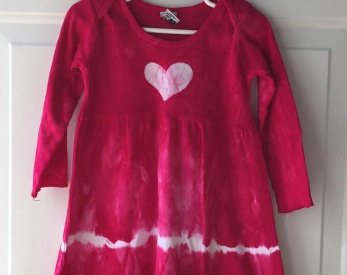 Pink Truck Dress, Garbage Truck Dress, Girls Truck Dress, Pink Garbage Truck, Fuchsia Truck Dress, Long Sleeve Truck Dress, Pink Dress (2T)
