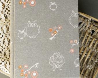 Writing Journal /  Handmade Sketchbook / Handmade Journal / Unique Journal /  Notebook /  Diary /  A5. 8 x 6 inch Owls
