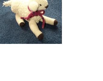 Knitting Pattern - Lambie Baby/Child Toy Pattern  CR14