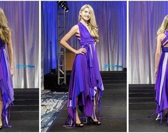 Pixie dress in purples, fairy dress, one of a kind, OOAK, forest pixie, purple fairy, flutter dress, prom dress, pageant dress, bridesmaid