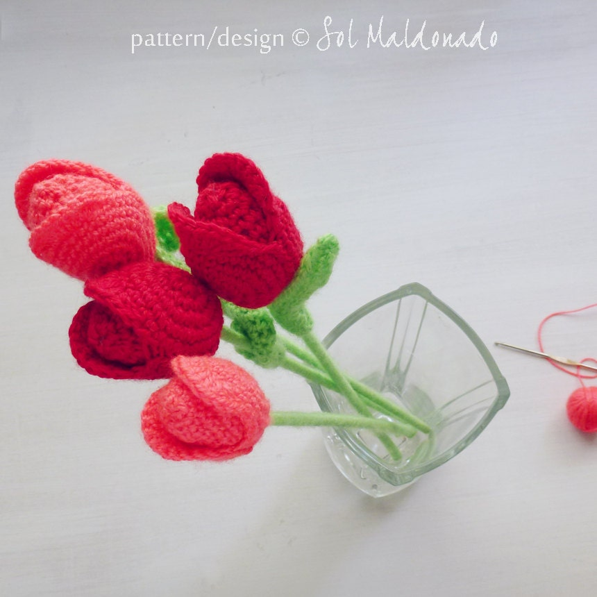 Crochet Tulip Flower Pattern Choice Image Knitting Patterns Free
