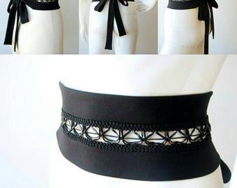 Black belt, Wrap belt, Jersey belt, Wide belt, Waist belt, Accessories, Belts, Womens belts, One size belt