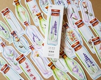 Terrarium Bookmark, Perfume Bookmark, Leaves Bookmark, Plant Bookmark, Jar Bookmark, Leaf Book Mark, Nature Bookmark