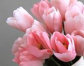 Tulip Flower 2 Pink Flowers Artificial Flower Supplies Silk Flower Stem Wedding Flower Bouquet Millinery Flower Fake Flower Centerpiece Fake